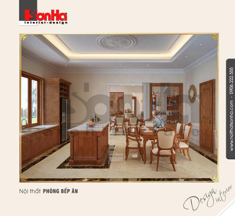 4.Mẫu nội thất phòng bếp ăn cổ điển tại quảng bình NT BTP 0099