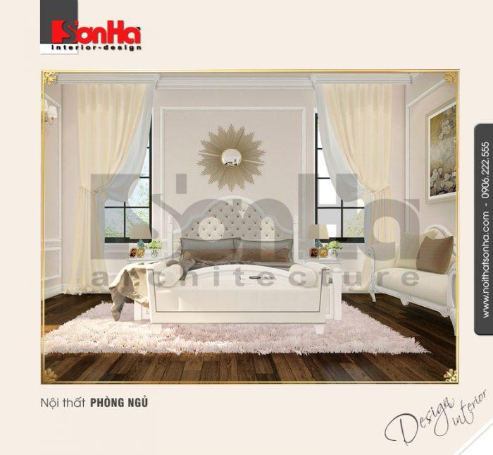 Mẫu thiết kế nội thất phòng ngủ biệt thự tân cổ điển sang trọng dễ dàng chinh phục mọi ánh nhìn