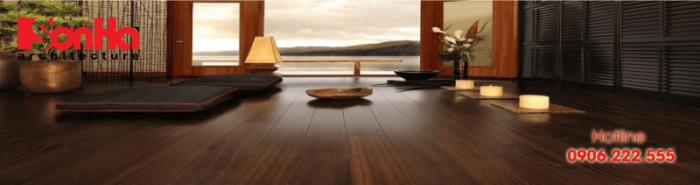 Mẫu thiết kế nội thất căn hộ chung cư đẹp với sàn gỗ công nghiệp thi công đúng cách