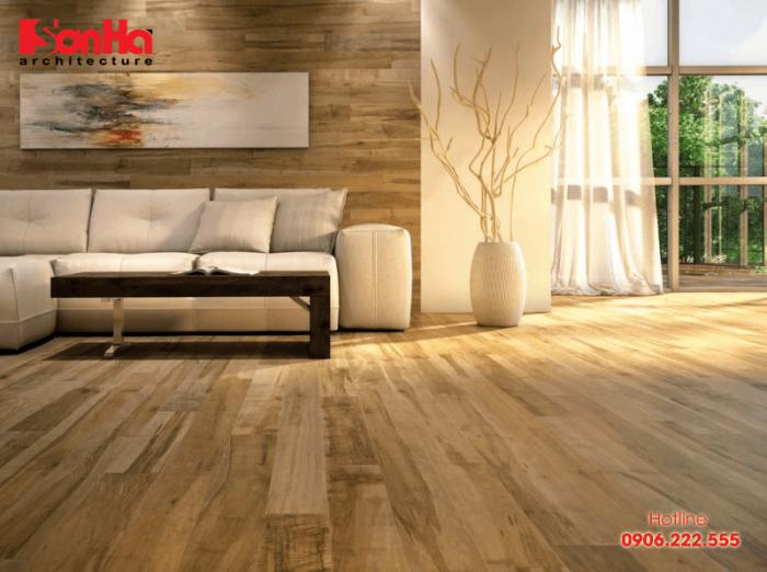 Mẫu thiết kế nội thất căn hộ chung cư và cách chọn sàn gỗ công nghiệp phù hợp