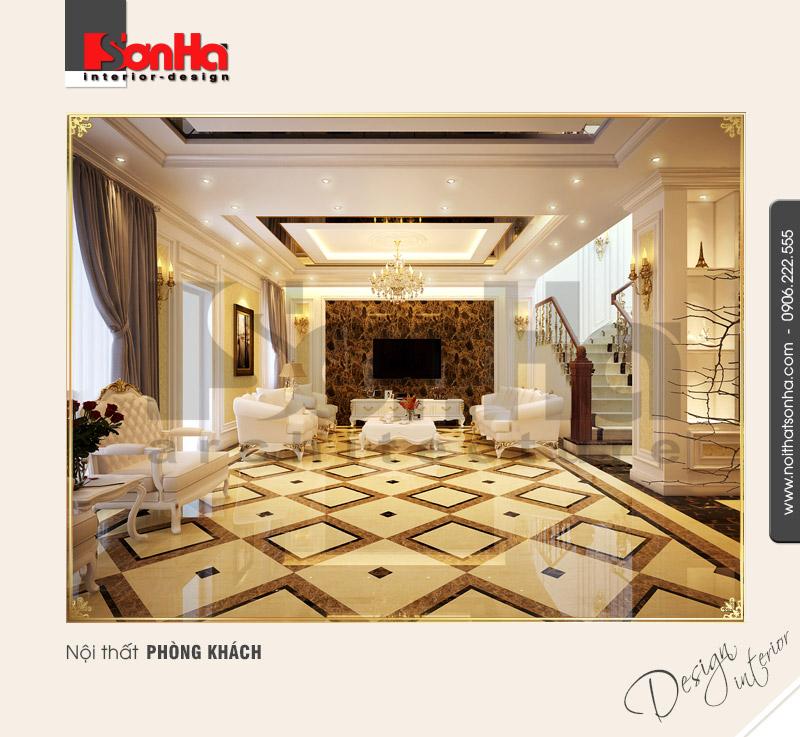 1.Thiết kế nội thất phòng khách cổ điển tại hải phòng NT BTD 0027