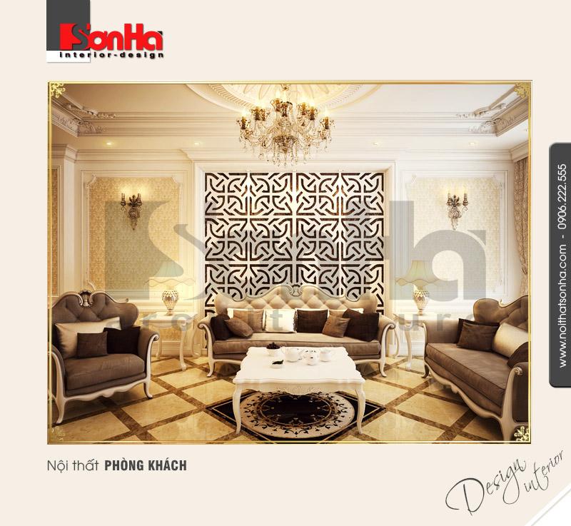 1.Thiết kế nội thất phòng khách cổ điển tại hải phòng NT NOD 0081