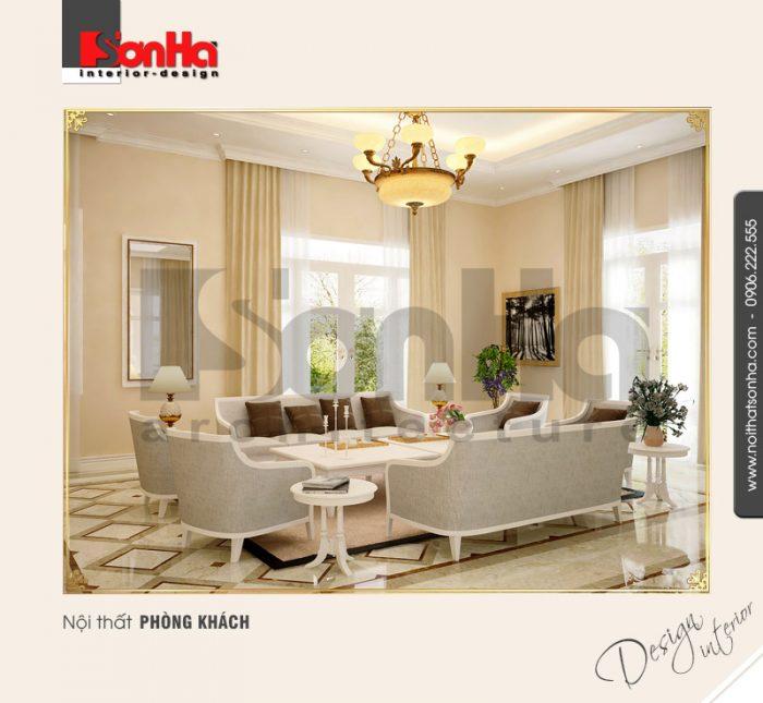 1.Thiết kế nội thất phòng khách cổ điển tại nha trang NT BTD 0023