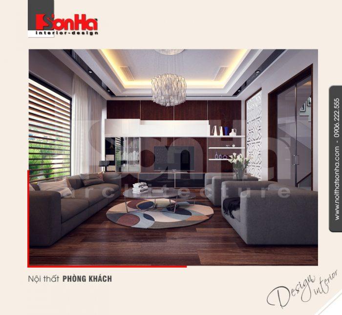 1.Thiết kế nội thất phòng khách hiện đại của nhà phố kết hợp văn phòng tại hải phòng NT NOD 0099