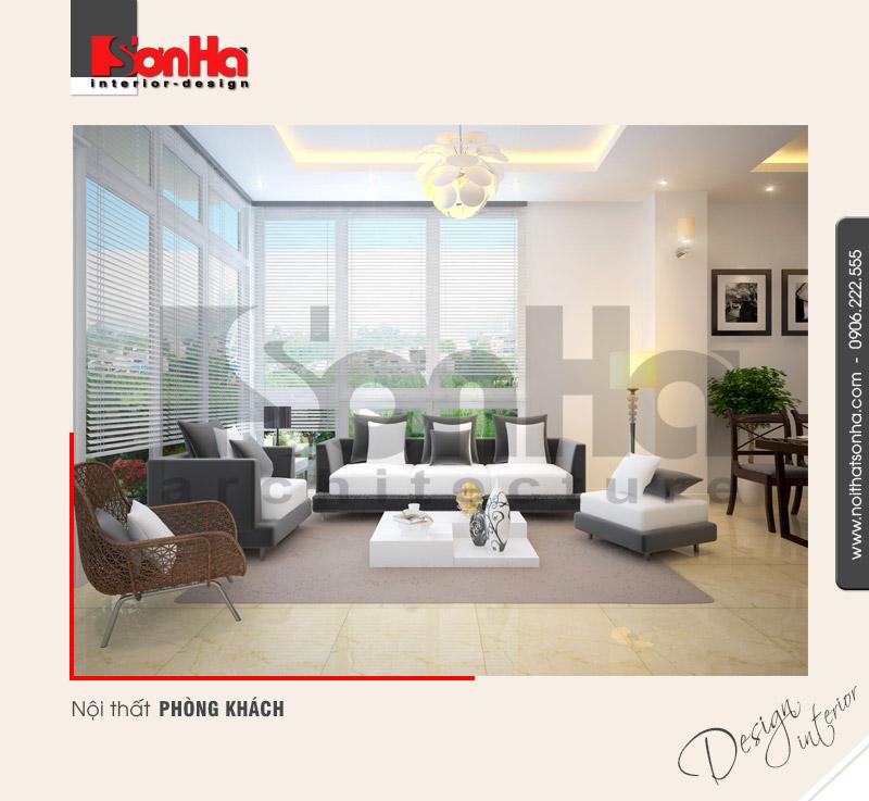 1.Thiết kế nội thất phòng khách hiện đại tại hà nội NT NOD 0091