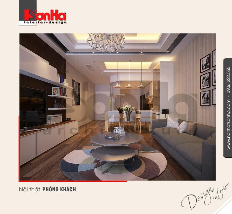 1.Thiết kế nội thất phòng khách hiện đại tại hải dương NT NOD 0101