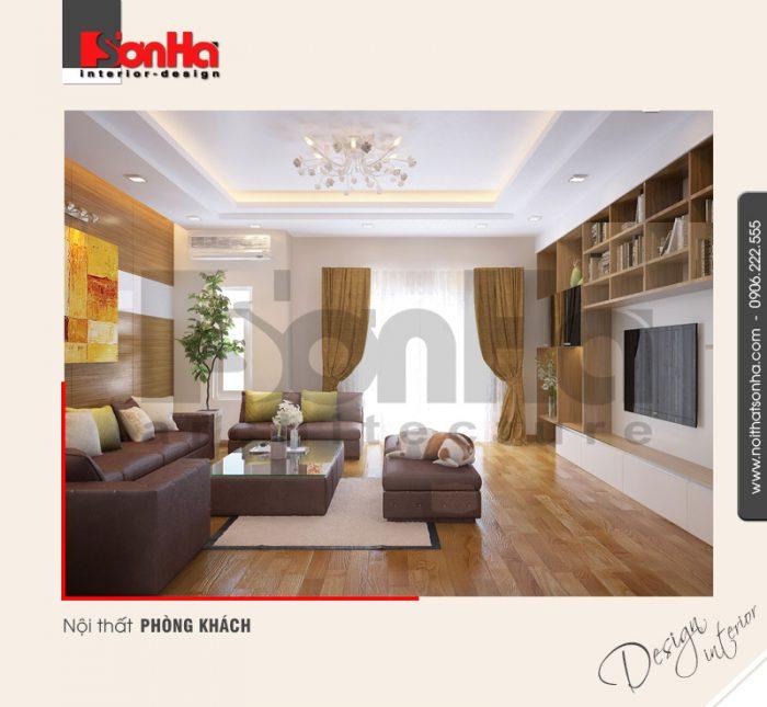 1.Thiết kế nội thất phòng khách hiện đại tại hải phòng NT NOD 0030