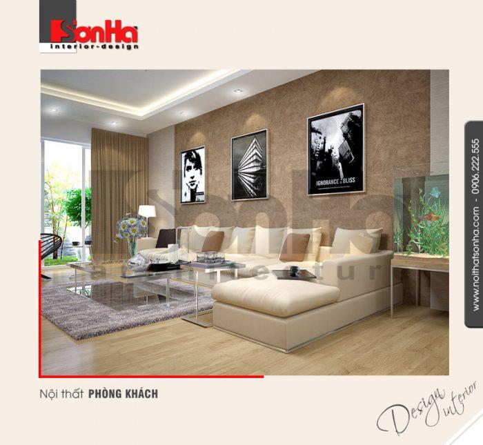 1.Thiết kế nội thất phòng khách hiện đại tại hải phòng NT NOD 0052