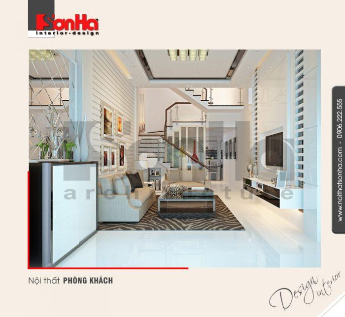 1.Thiết kế nội thất phòng khách hiện đại tại hải phòng NT NOD 0077