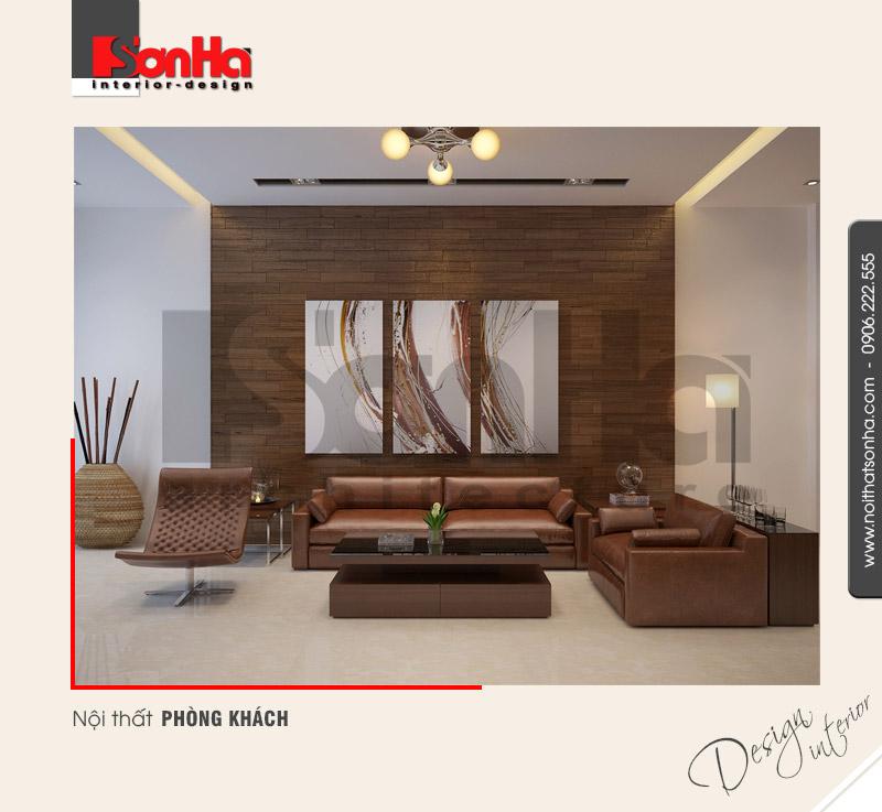 1.Thiết kế nội thất phòng khách hiện đại tại hải phòng NT NOD 0085