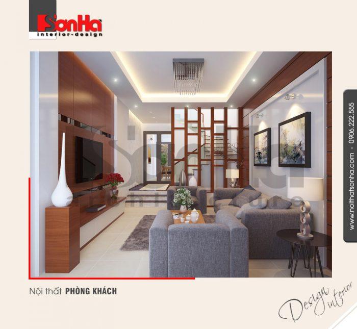 1.Thiết kế nội thất phòng khách hiện đại tại hải phòng NT NOD 0089