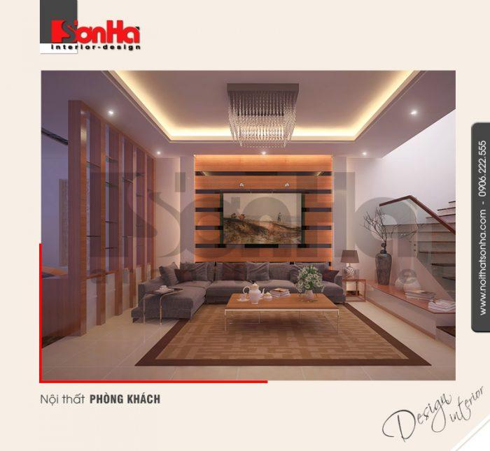 1.Thiết kế nội thất phòng khách hiện đại tại hải phòng NT NOD 0092