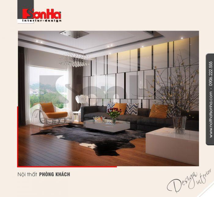 1.Thiết kế nội thất phòng khách hiện đại tại hải phòng NT NOD 0100