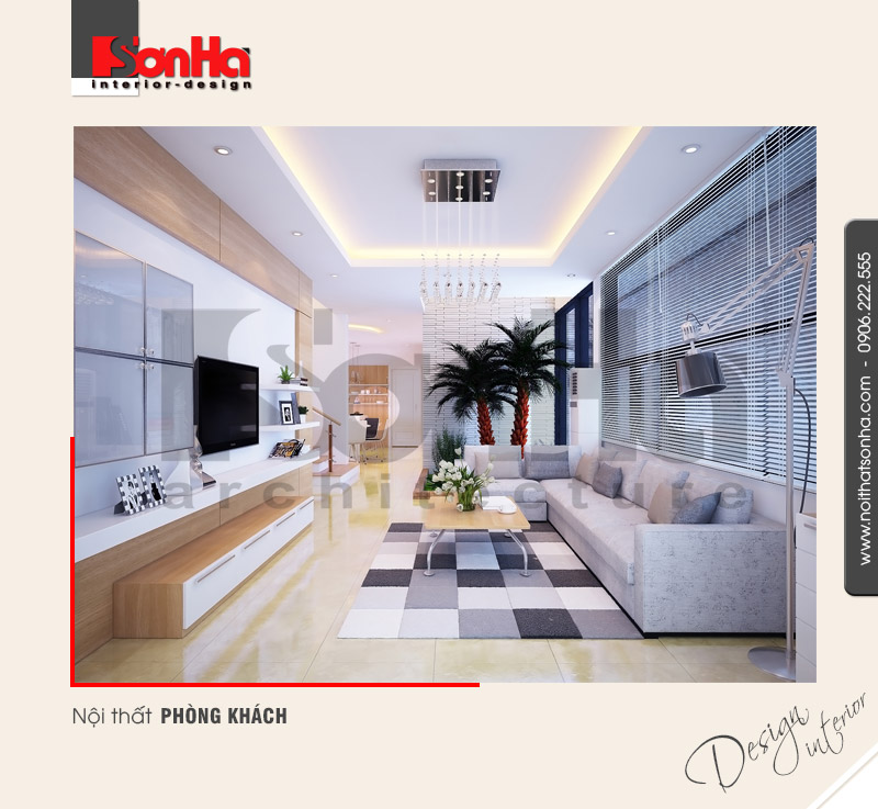 1.Thiết kế nội thất phòng khách hiện đại tại nam định NT BTD 0029