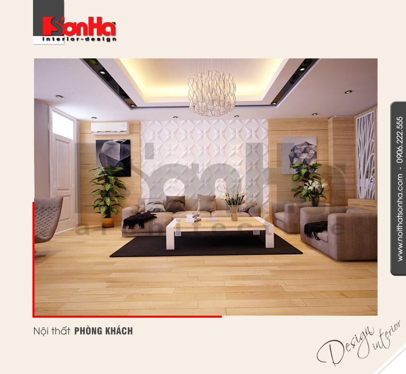 1.Thiết kế nội thất phòng khách nhà phố đẹp hiện đại tại quảng ninh NT NOD 0114