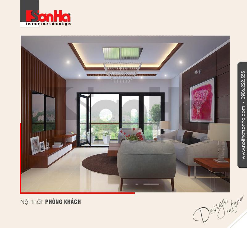 1.Thiết kế nội thất phòng khách nhà phố hiện đại tại hải phòng NT NOD 0115