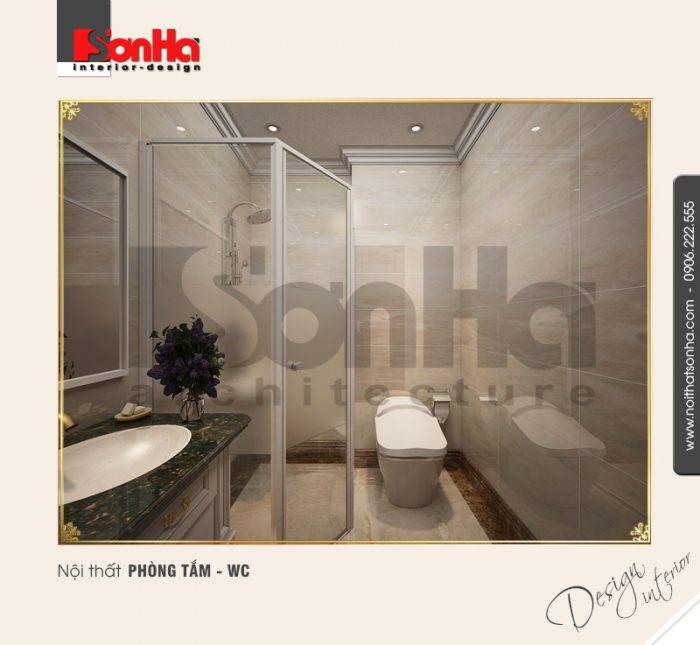 10.Mẫu nội thất phòng tắm wc cổ điển tại vinhomes hải phòng