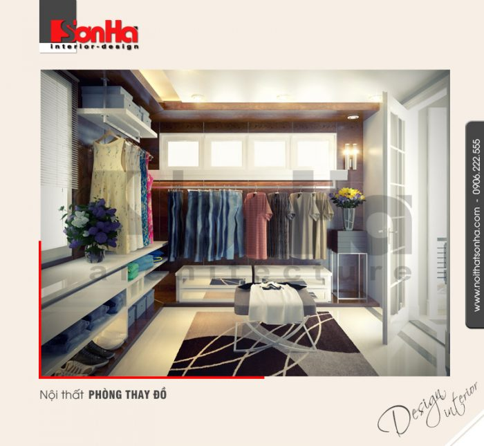 11.Thiết kế nội thất phòng thay đồ hiện đại tại hải phòng NT BTD 0007