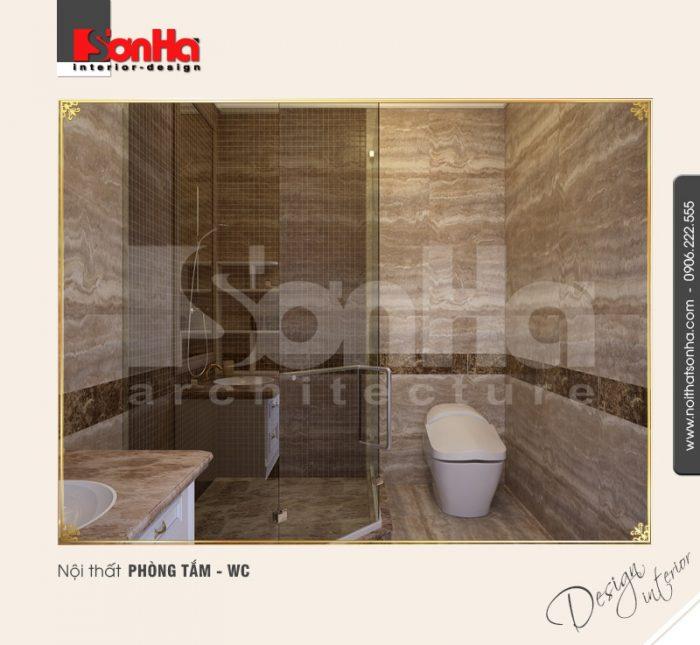 12.Mẫu nội thất phòng tắm wc tân cổ điển tại vinhomes imperia hải phòng