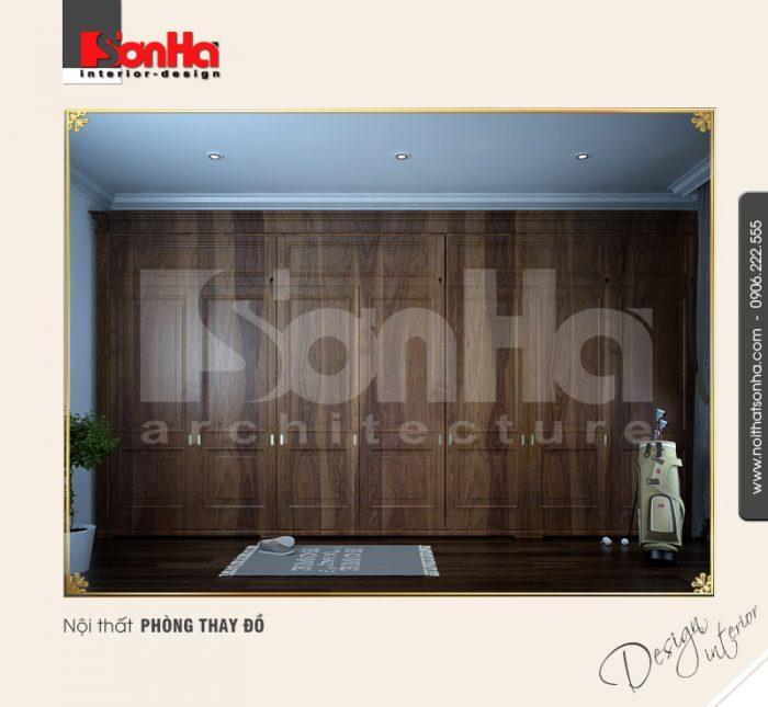 12.Mẫu nội thất phòng thay đồ cổ điển tại vinhomes hải phòng