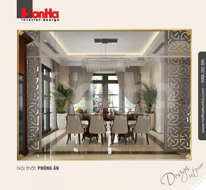 2.Mẫu nội thất phòng ăn phong cách tân cổ điển tại vinhomes imperia hải phòng