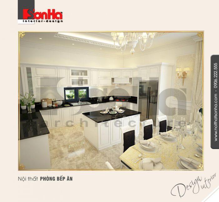 2.Mẫu nội thất phòng bếp ăn biệt thự cổ điển tại quảng ninh NT BTD 0034