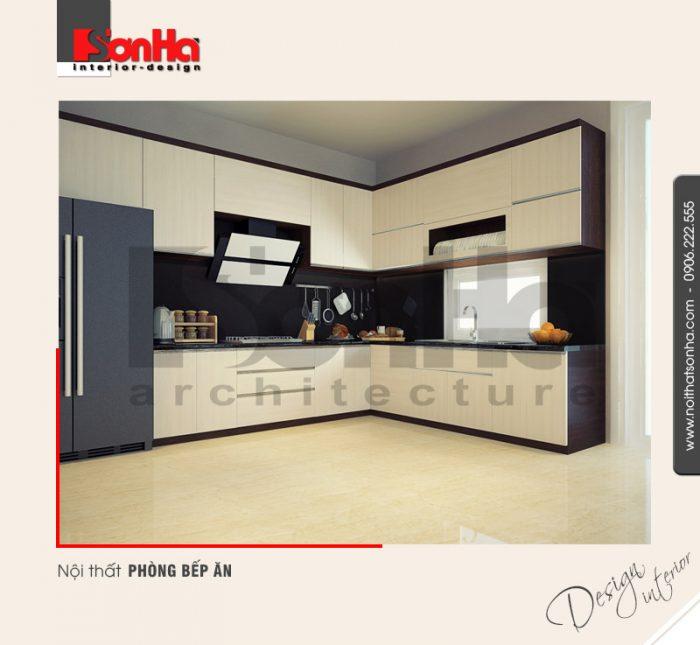 2.Mẫu nội thất phòng bếp ăn biệt thự hiện đại tại quảng ninh NT BTD 0019