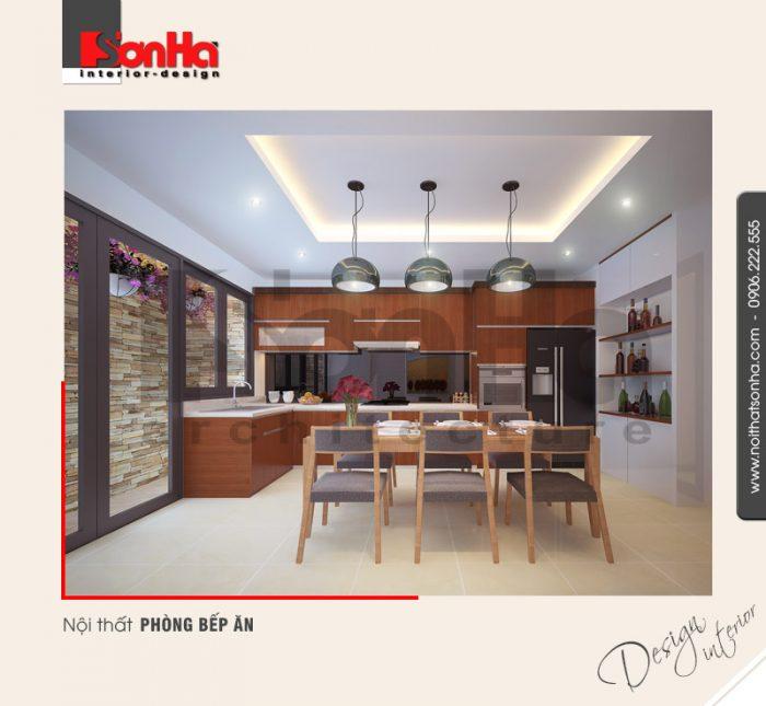 2.Mẫu nội thất phòng bếp ăn hiện đại tại hải phòng NT NOD 0089