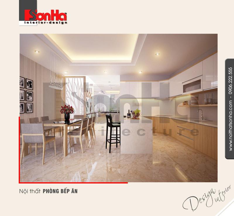 2.Mẫu nội thất phòng bếp ăn hiện đại tại quảng ninh NT NOD 0114