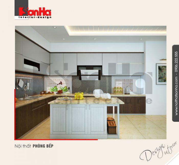 2.Mẫu nội thất phòng bếp hiện đại tại hà nội NT NOD 0091