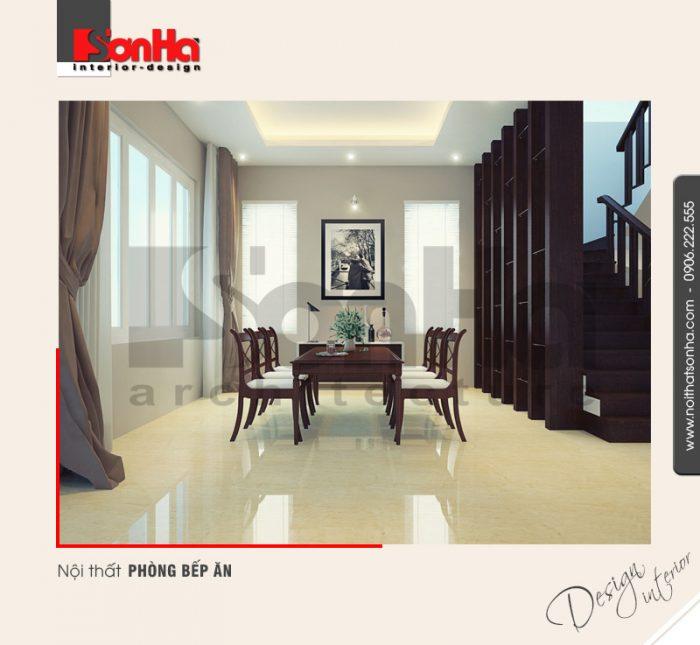 3.Thiết kế nội thất bếp ăn biệt thự hiện đại tại quảng ninh NT BTD 0019