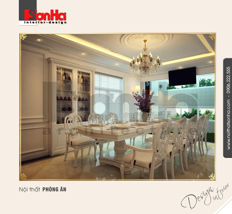3.Thiết kế nội thất phòng ăn cổ điển tại hải phòng NT NOD 0081