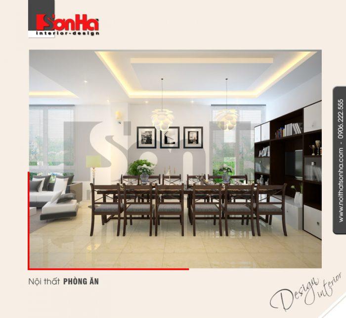 3.Thiết kế nội thất phòng ăn hiện đại tại hà nội NT NOD 0091