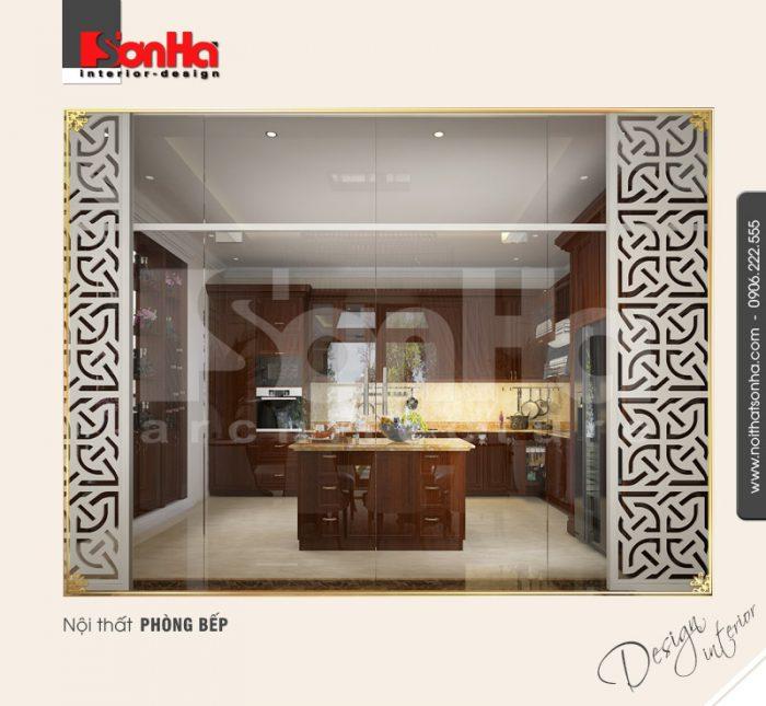 3.Thiết kế nội thất phòng bếp tân cổ điển tại vinhomes imperia hải phòng