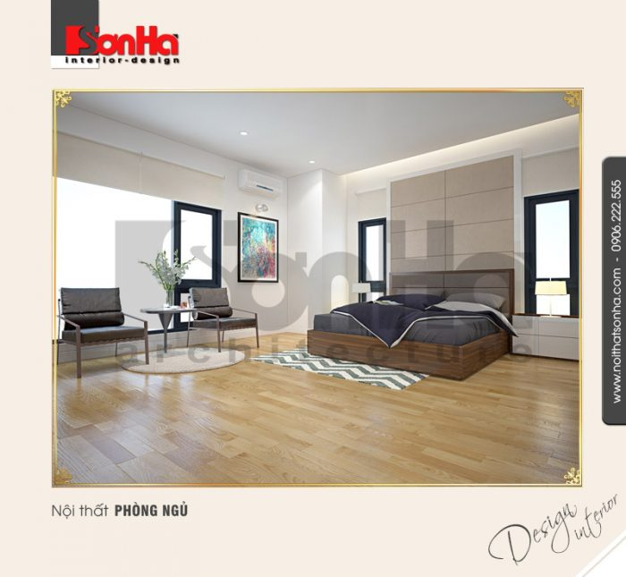 3.Thiết kế nội thất phòng ngủ ấn tượng tại quảng ninh NT BTD 0034