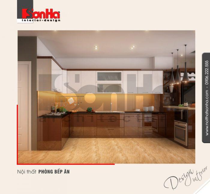 4.Mẫu nội thất phòng bếp ăn hiện đại tại hải phòng NT NOD 0100