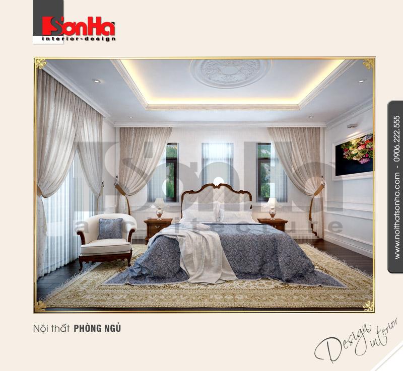 4.Mẫu nội thất phòng ngủ cổ điển tại vinhomes hải phòng