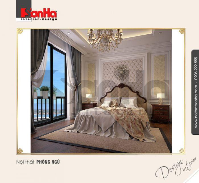 4.Mẫu nội thất phòng ngủ kiểu tân cổ điển tại vinhomes imperia hải phòng