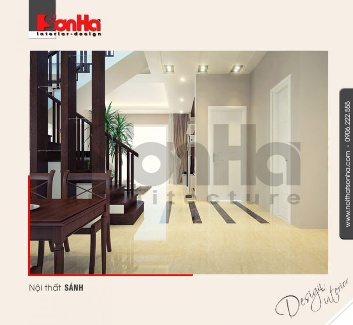 4.Mẫu nội thất sảnh biệt thự hiện đại tại quảng ninh NT BTD 0019