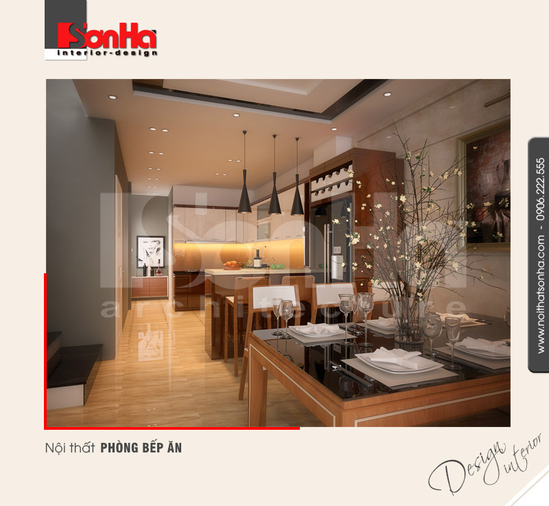 5.Thiết kế nội thất phòng bếp ăn hiện đại tại hải phòng NT NOD 0100