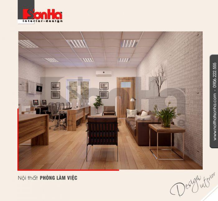 5.Thiết kế nội thất phòng làm việc hiện đại tại quảng ninh NT NOD 0114