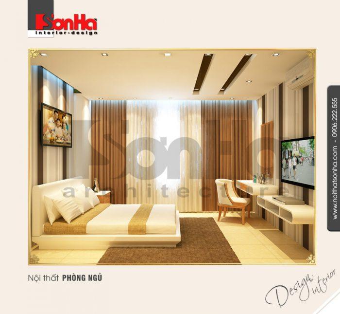 5.Thiết kế nội thất phòng ngủ ấn tượng cho biệt thự tại hải dương NT BTD 0009