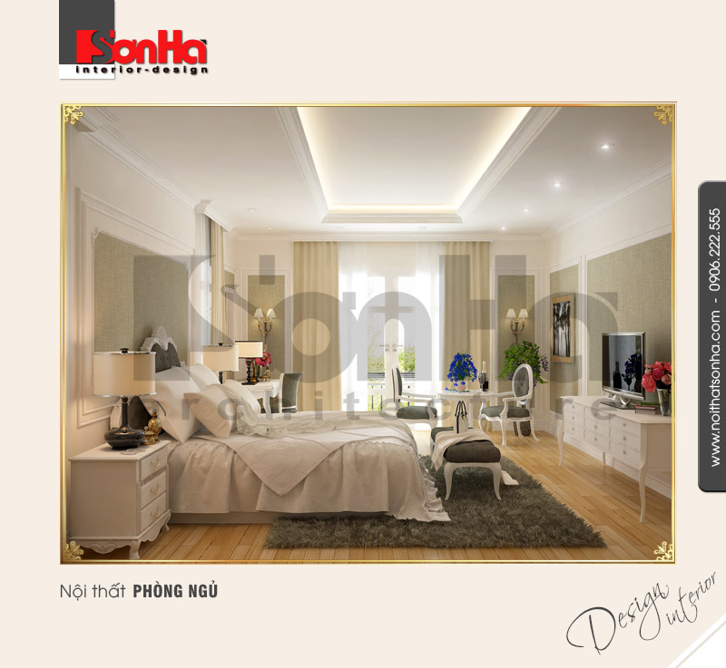 5.Thiết kế nội thất phòng ngủ cổ điển tại nha trang NT BTD 0023