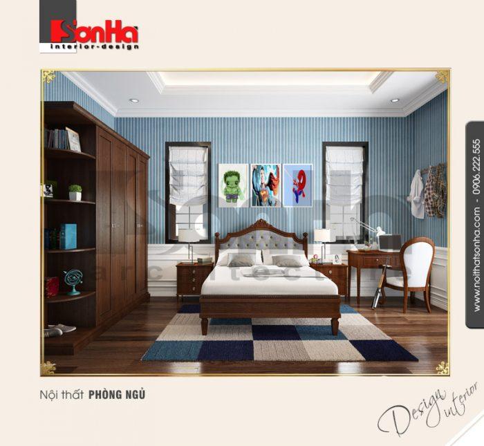 5.Thiết kế nội thất phòng ngủ đep tiện nghi kiểu tân cổ điển tại vinhomes imperia hải phòng