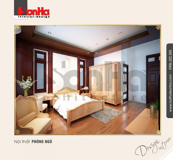 6.Mẫu nội thất phòng ngủ biệt thự đơn giản đẹp tại hải dương NT BTD 0009