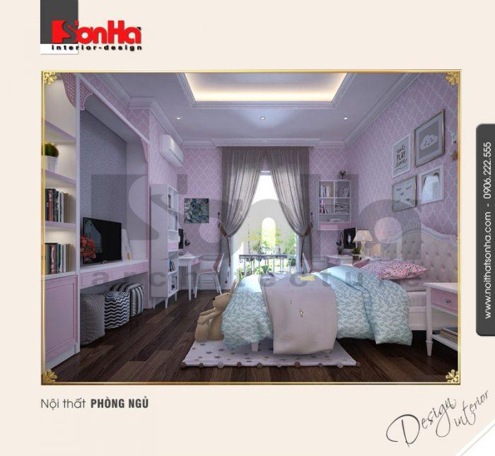 6.Mẫu nội thất phòng ngủ con gái tại vinhomes imperia hải phòng