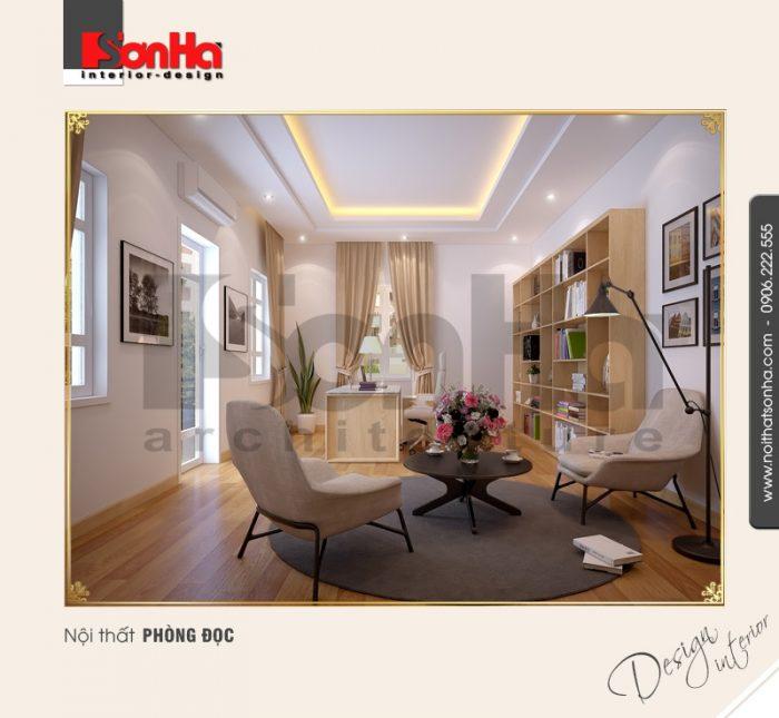 7.Thiết kế nội thất phòng đọc cổ điển tại nha trang NT BTD 0023
