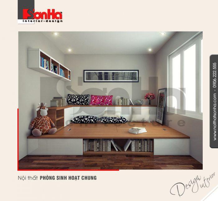 7.Thiết kế nội thất phòng sinh hoạt chung của biệt thự hiện đại tại quảng ninh NT BTD 0019