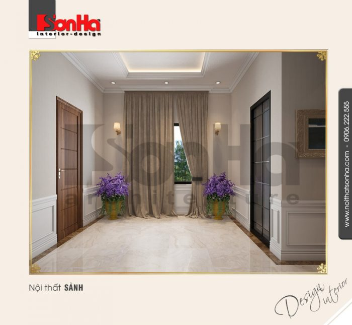 8.Mẫu nội thất sảnh cổ điển tại vinhomes hải phòng