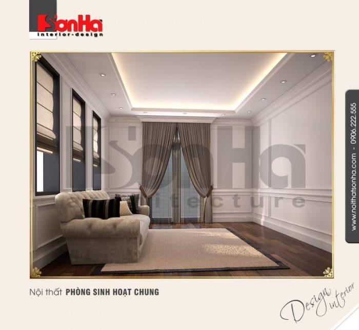 9.Thiết kế nội thất phòng sinh hoạt chung tân cổ điển tại vinhomes imperia hải phòng